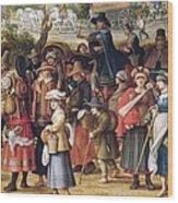 War Scene Oil On Panel Detail Of 242453 Wood Print