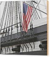 War Ship Wood Print