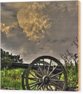 War Thunder - The Clouds Of War 2a - 4th New York Independent Battery Above Devils Den Gettysburg Wood Print