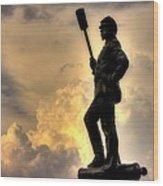 War Thunder - The Clouds Of War - 4th New York Independent Battery Near Devils Den Gettysburg Wood Print