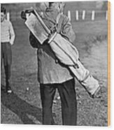 War Time On The Golf Course Wood Print