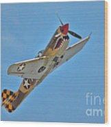 Warhawk Fighter Wood Print
