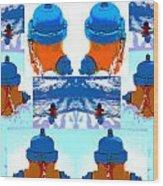 Warhol Firehydrants Wood Print