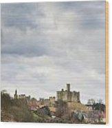 Warkworth Castle Above River Coquet Wood Print