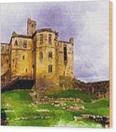 Warkworth Castle Wood Print