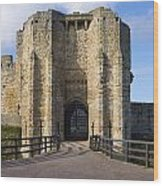 Warkworth Castle Gate House Wood Print