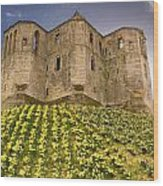 Warkworth Castle In The Sky Wood Print