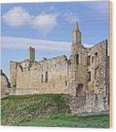 Warkworth Castle Panorama Wood Print