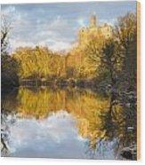 Warkworth Castle Reflected Wood Print