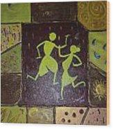 Warli Dance Wood Print