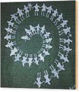 Warli On Handmade Paper Wood Print