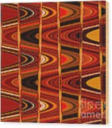 Warm Colors Lines And Swirls Abstract Wood Print