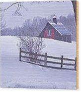 Warm In Winter Wood Print