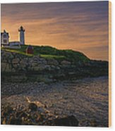 Warm Nubble Dawn Wood Print