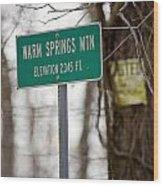 Warm Springs Mountain  Wood Print