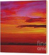 Warm Sunset Wood Print