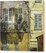 Warmth Of Old Villefranche Wood Print