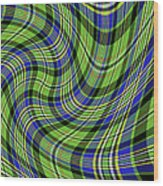 Warped Scott Ancient Green Tartan Wood Print