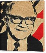 Warren Buffett Wood Print