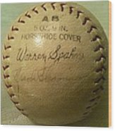 Warren Spahn Baseball Autograph Wood Print