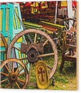 Warrenton Antique Days Wood Wheels And Wonders Wood Print