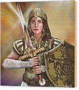 Warrior Bride Of Christ Wood Print
