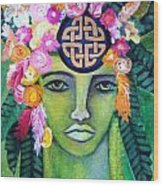 Warrior Goddess Wood Print by Tracie Hanson