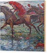 Warriors In Return Wood Print
