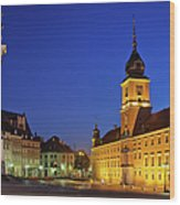 Warsaw By Night Wood Print