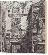 Warwick Lane, London, 19th Century Wood Print