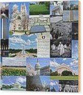Washington D. C. Collage 2 Wood Print