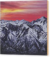 Wasatch Sunrise 3x1 Wood Print by Chad Dutson