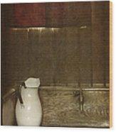 Wash Basin Wood Print