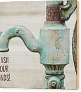 Wash Your Hands Child's Bathroom Decor Wood Print