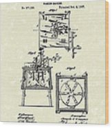 Washing Machine 1887 Patent Art Wood Print by Prior Art Design