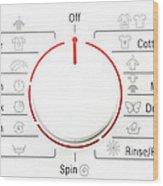 Washing Machine Controls With Symbols Wood Print