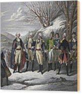 Washington & Generals Wood Print