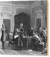Washington And Lafayette Wood Print