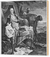 Washington At Yorktown Wood Print