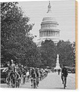 Washington Bicycle Parade Wood Print