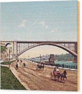 Washington Bridge 1901 Wood Print