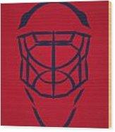Washington Capitals Goalie Mask Wood Print