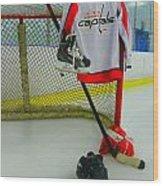 Washington Capitals Home Hockey Jersey Wood Print