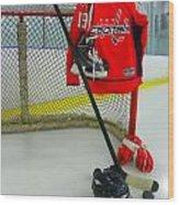Washington Capitals Nicklas Backstrom Home Hockey Jersey Wood Print