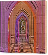 Washington Cathedral Light Show Wood Print