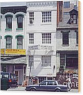 Washington Chinatown In The 1980s Wood Print by Thomas Marchessault