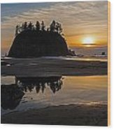Washington Coast Tranquility Wood Print