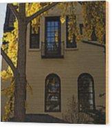 Washington D C Facades - Dupont Circle Neighborhood In Yellow Wood Print