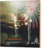 Washington Dc 4th Of July 2013 Wood Print