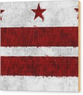Washington D.c. Flag Wood Print